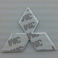 Wholesale Mitsubishi car emblems cm silver auto logo for Mitsubishi lancer top quality plated car standard stickers for car styling M2601