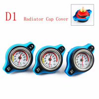 Wholesale D1 Spec RACING Thermost Radiator Cap COVER Water Temp gauge BAR or BAR or BAR Cover