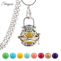 ball pregnant - Harmony Bola Ringing Chime Ball Statement Necklaces Cage Locket Angel Caller Floating Locket for Pregnant Mother Baby