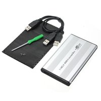 Wholesale Sliver USB Inch pin IDE HD Hard Disk Drive HDD External Case Enclosure Box For Mac OS Notebook Laptop PC