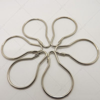 Wholesale Hot selling Stainless steel Chrome Plated Shower Bath Bathroom Curtain Rings Clip Easy Glide Hooks