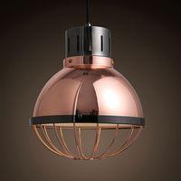 antique copper light fixtures - Modern retro nostalgia antique copper pendant lights American country iron bar Coffee hall ceiling lamp fixtures