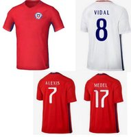 best chile - DHL shipping Chile home away soccer jerseys best quality Chile red white shirt VIDAL ALEXIS MEDEL soccer football Jersey