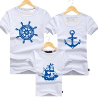 baby loves shopping - shop anchor and helm Parent child t shirt family tees dad mum baby kids t shirts cotton i love you t shirts parent child tees