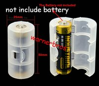 aa to c battery adapter - 20pcs Home Organization box Bin Promotion Translucent AA to C Size Battery Converter Adaptor Adapter Case aa size to c size Shell Cover Case