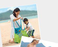 Wholesale Children s beach toys dredging tools quickly pouch debris storage beach bag