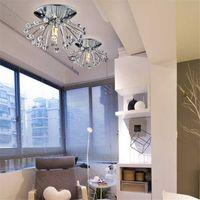 bars crystal store - Modern Crystal Ceiling Light Mini Lustre Cristal Led Lamp Home Bar Store Aisle Living Room Ceiling Lamp LED