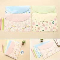 Wholesale mm New Sweet Flower series File bag PVC waterproof Filebag DIY Stationery bag office school supplies