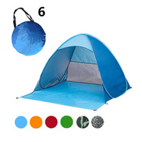 automatic door accessories - Fast Shipping Easy Carry Tents Outdoor Camping Accessories for People UV Protection Tent for Beach Travel Lawn Colorful Tent