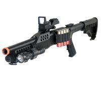 bb flashlight - NEW UKARMS M180C2 AIRSOFT PUMP SPRING SHOT GUN FLASHLIGHT RED DOT w mm BBs BB