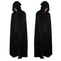Wholesale Halloween costumes Azrael cloak Horror black big cape Devil cosplay clothes pure color inchs height A94