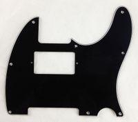 Wholesale For US screw standard Tele White PAF Humbucker Guitar Pickguard Ply Black CL068