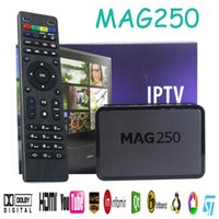 Wholesale MAG250 Smart TV Box linux Operating System IPTV Set Top Box Without Iptv Account MAG Iptv Decoder