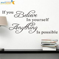 believe wall - believe in yourself home decor creative quote wall decal decorative adesivo de parede removable vinyl wall sticker
