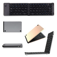 Wholesale Mini Wireless Foldable Bluetooth Gold Keyboard F66 For Windows Android IOS Tablet Fashionable keyboard