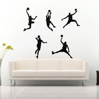 best windows media player - The Best Quality Five Basketball Player Sport Living Room Kid Bedroom Decal Vinyl Sticker For Wall Window Best Promotion