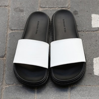 aw white - 2016 AW New Slippers for Men Outdoor Open Toe On Sale Platform Summer Fashion Boy Casual Flat Sandal High Quality Cool Scuffs Slipper Sandal