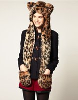 Cheap Hats, Scarves & Gloves Set spirit hood Best Animal color Printed faux fur spirit hood
