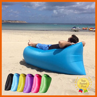 air pouch packaging - 2016 Portable Sofa Lazy Sofa Fast Inflatable Air Sleeping Bag Camping Bed Beach Phone Case with Retail Package