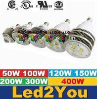 E27 E40 Crochet Led Rénovation ampoule 50W 100W 120W 150W 200W 300W 400W LED haute baie d'éclairage Remplacer lampe halogène Salle Lumières