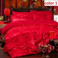 Wholesale bedding sets satin silk jacquard Cotton big follower queen king size full twin single adult kids