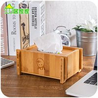 bamboo paper tray - Preferably bamboo tissue box pumping tray Household living room thick green bamboo paper drawn box tissue pumping