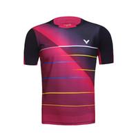 badminton victor shirt - 2016 Victor Badminton shirt Male Female shirt Korea Team Badminton Jerseys Indonesia Badminton men s T shirt