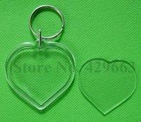 al por mayor llavero marco digital-El envío libre en forma de corazón en blanco en forma de foto de inserción marco marco llavero división