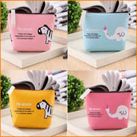 animal headphones - 4 Colors Cute Animal Elephant Zebra PU Coin Purses Cartoon Lovely Waterproof Mini Storage Bags For Cardholder In ear Headphone