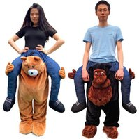 Wholesale Stuffed Teddy Bear Gorilla Ride On Me Mascot Costumes Animals Carry Me Pants Novelty Fancy Dress Costume for Purim Party Christmas Gift