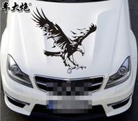 Wholesale Package mail car stickers car machine cover hood body stick machine cover sticker reflective garland stickers hawk
