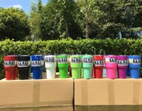 Wholesale YETI cups colors in stock with logo oz oz oz Yeti mugs pink colors yeti cup stainless steel cups HHAA888