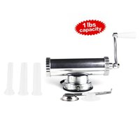 Wholesale 2 in one Aluminum Hand Operated Sausage Meat Stuffer With Suction Base Homemade Aluminum Cookie Press and Sausage Filler