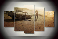 Wholesale 5 Panel HD Printed mad max fury road Painting on canvas room decoration print poster picture canvas