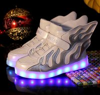 baby boy baskets - Fashion Size New Cool Lighted up LED basket kids Elegant Lovely baby boys girls shoes cool children boots