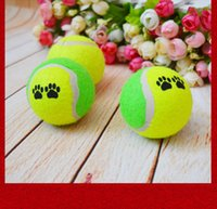 Wholesale 2016 Hot Pet Dog soft rubber Toys Tennis Ball Throw Play Chew Toys Run Funny Puppy Dog Toy For Outdoor Cricket Feeding Training