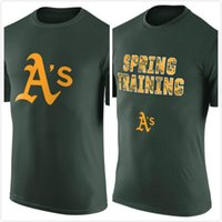 athletic tshirt - Oakland Athletics Authentic Collection Legend Team Issue Spring Training Performance T Shirt mens short sleeve sports TShirt Size S XL