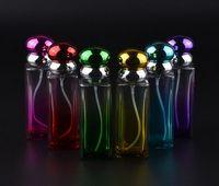 colored glass bottles - Perfume Bottle ml Colored Glass Perfume Spray Bottles Travel Perfume Atomizer Empty Square Vials Spray Bottles