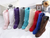 Wholesale Cool Pink High Heel Shoes - 12 Colors ! New Spring and Autumn Women Boots Knitted Hollow High Boots Fashion Womans Cool Botas Mesh Breathable Shoes Womens Single Shoe