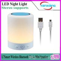 Сенсорную панель Цены-300pcs L7 Романтическое освещение Bluetooth акустическая система с Спальня Настольная лампа сенсорной панели управления TF поддержки YX-L7-01