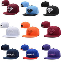 Wholesale Diamonds Snapback Hat For Men Snapback Cap Hip Hop Hat Cap Bone Baseball Cap Man Hat Fashion casquette gorras planas Adjustable