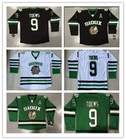 Cheap Custom North Dakota Fighting Sioux Hockey Jersey Cheap #9 Jonathan Toews Green University Throwback Stitched Name And Number High Quality