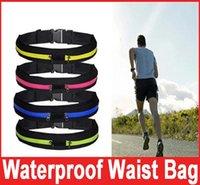 Wholesale Running Waist Bag for Men Women Sport Waist Packs Waterproof Mobile Phone Single Double Waist Bags Outdoor Bag Travel Pocket Purse colors