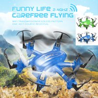 Wholesale Mini Wifi FPV Drones Axis Rc Dron Jjrc H20W Quadcopters with MP HD Camera Flying Helicopter Remote Control Toys Nano Copters QUD_011