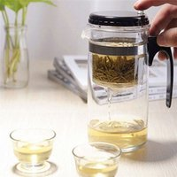 Wholesale Durable Quality Straight Glass Tea Cup Teapot kettle ml With Filter Gongfu Tea Maker Press Art Cup Washable Convenient Office