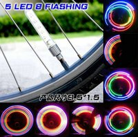 bicycle tires sale - 5 Led different color change tire light ar Motorcycle Bicycle Tire Wheel Valve Cap Led Flash Light hot sale
