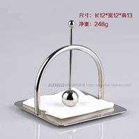 Wholesale The new high grade stainless steel paper towel holder napkin holder square mesa KTV bar towel rack tissue boxes hotel