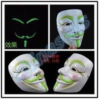 bar agent - adult Halloween Christmas Venetian mask terrorist agents V face luminous mask party bar face mask cosplay props