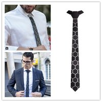 Wholesale Hex Tie hand made necktie w o package