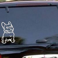 Wholesale Fashion French Bulldog Dog Car Sticker PET Cars Decal Waterproof Auto Styling Cartoon Car Stickers Car Accessories CM order lt no track